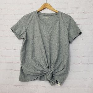 Madewell tie front tshirt new